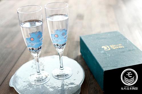 Champagne Glass Snowflakes (Set of 2 Pcs)