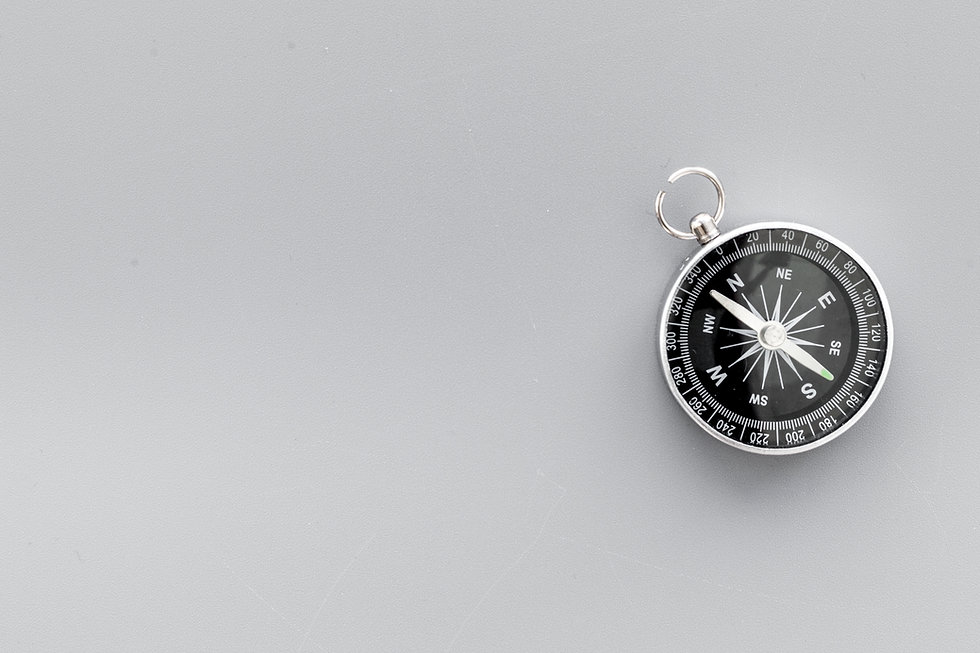 Compass on gray background top view copy