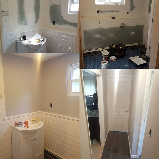 Before and after bathroom & laundry room paint job for our good friend frank!!! #jeremiasdevelopment