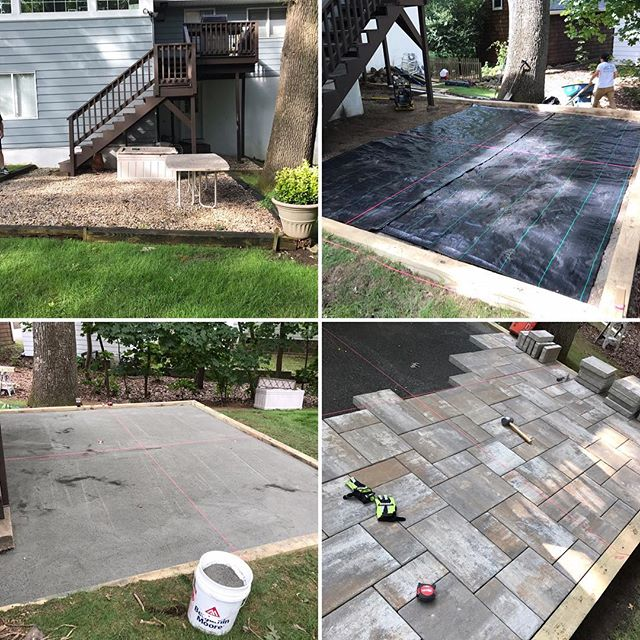 Few progress shots of the Larchmont patio project! We are moving along smoothly💪 can't wait to hand