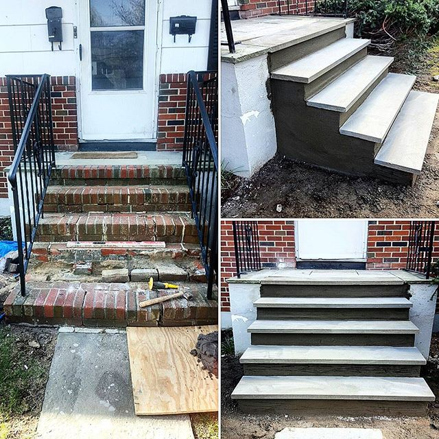 before and after stair case restoration