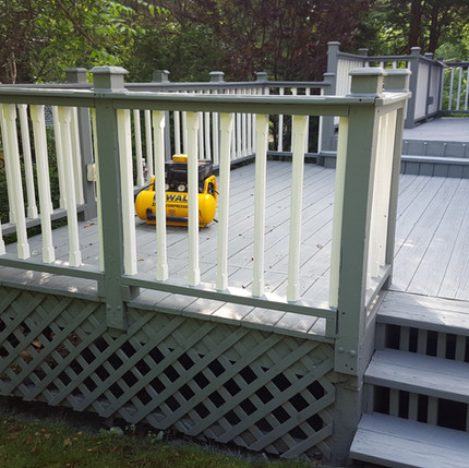 Two tone deck PAinting
