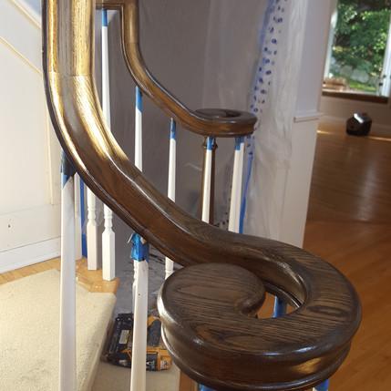Oak Stair Railing