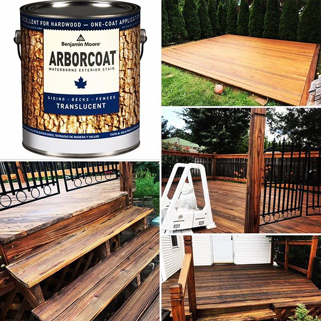 Multi deck project protected by _benjaminmoore Arborcoat translucent natural oil stain !! Just in ti