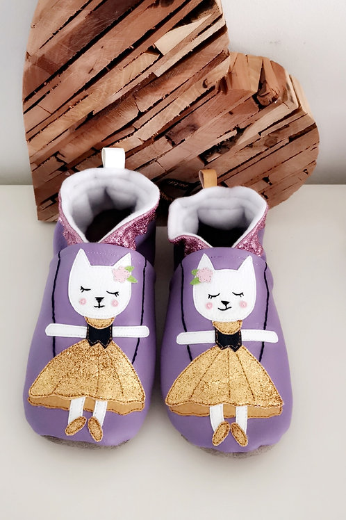Chaussons Princesse chat