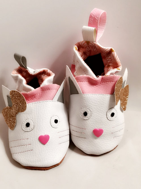 Chaussons Chat coeur