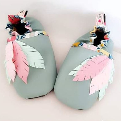 Chaussons à plumes version 2