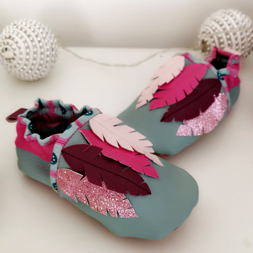 Chaussons Plumes droites