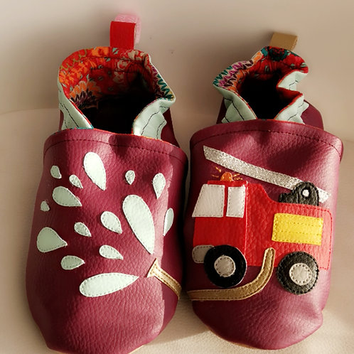 Chaussons Camion de Pompiers