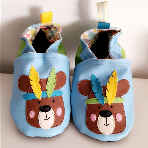 Chaussons Ourson plumes
