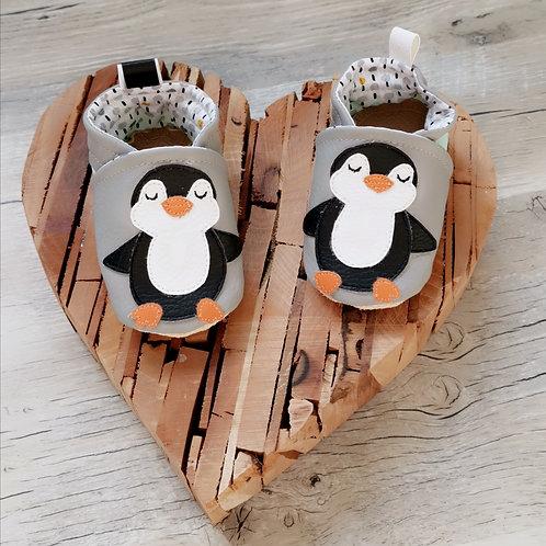 Chaussons bébé pinguin