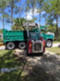 Skidsteer, grading, loading, hauling, dump truck