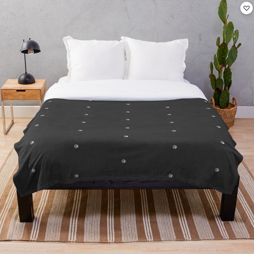 Minimal Moon Throw Blanket