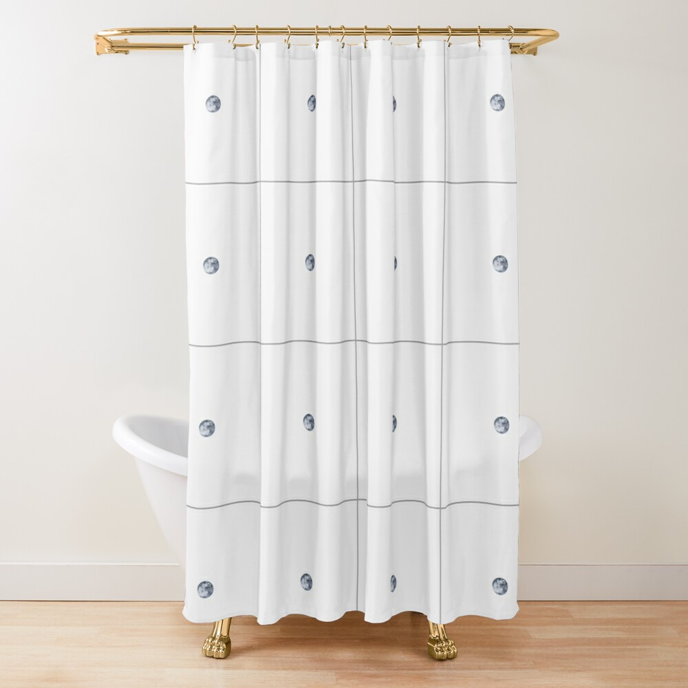 Inverted Moon Shower Curtain