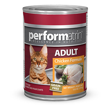Performatrin Adult Grain Free Chicken Cat Food Canned