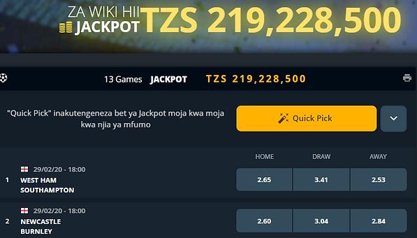 Sortpesa tanzania jackpot prediction