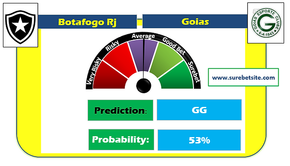 BOTAFOGO RJ vs GOIAS GG SUREBET PREDICTION