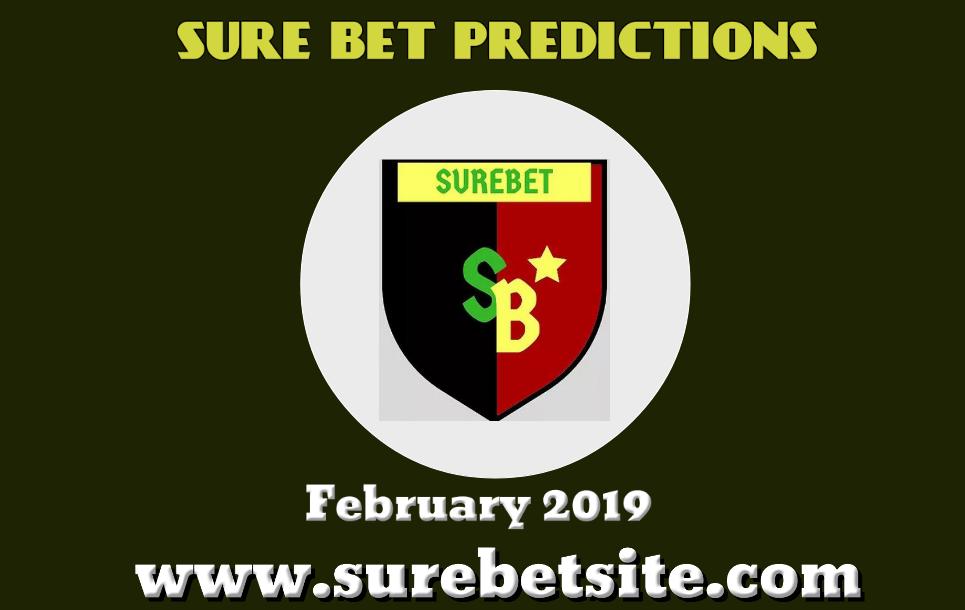 Surebet tips - January 2019