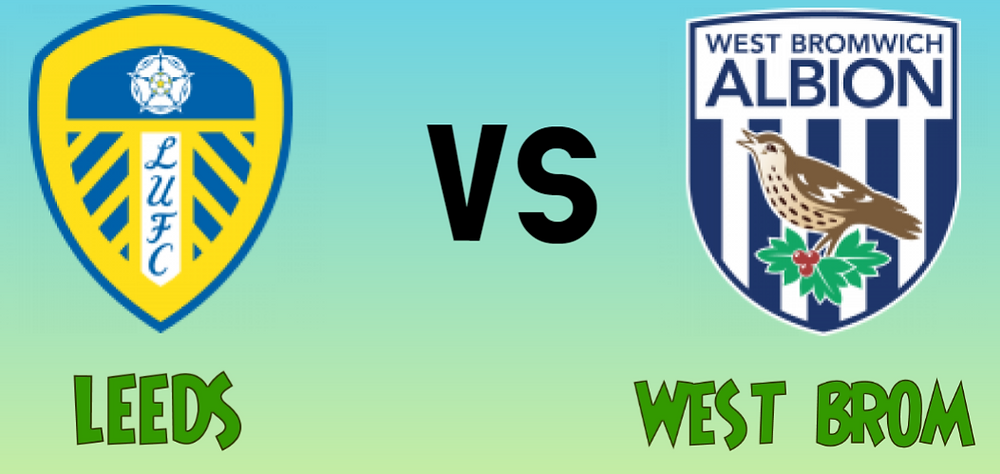 Leeds Vs West Bromwich is the 11th midweek jackpot game this week