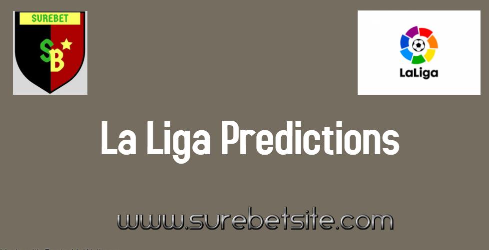 La Liga predictions available on Surebetsite
