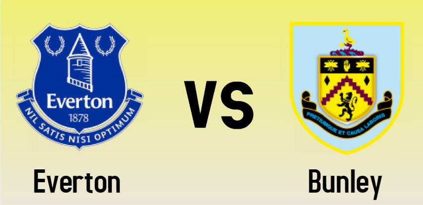 Everton vs Bunley match Prediction - logos