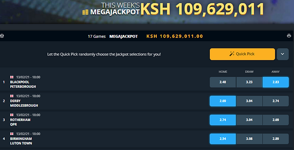 Sportpesa mega jackpot prediction this weekend 13th Feb 2021