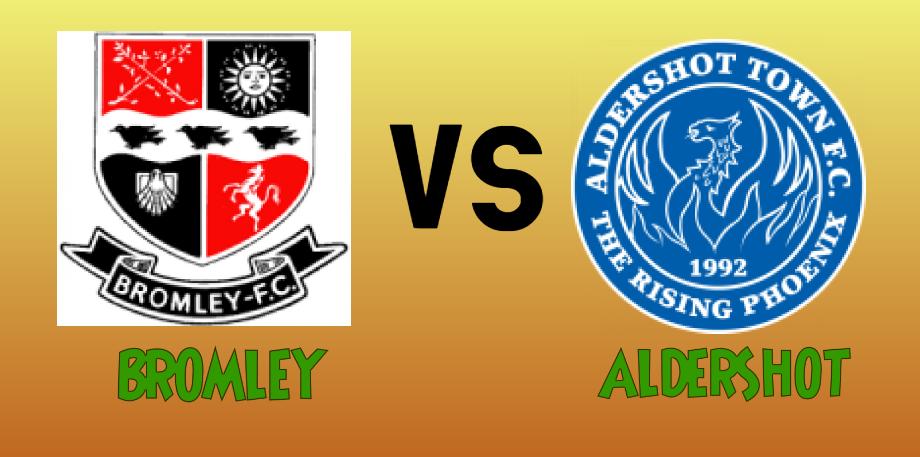 Bromley vs Aldershot match Prediction - logos