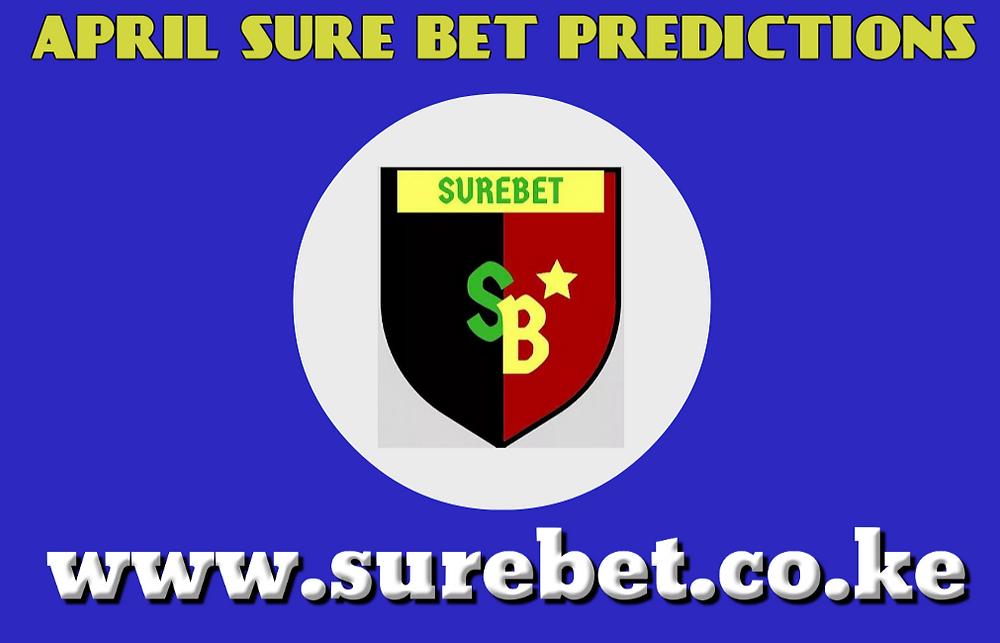 Sure bet prediction for April
