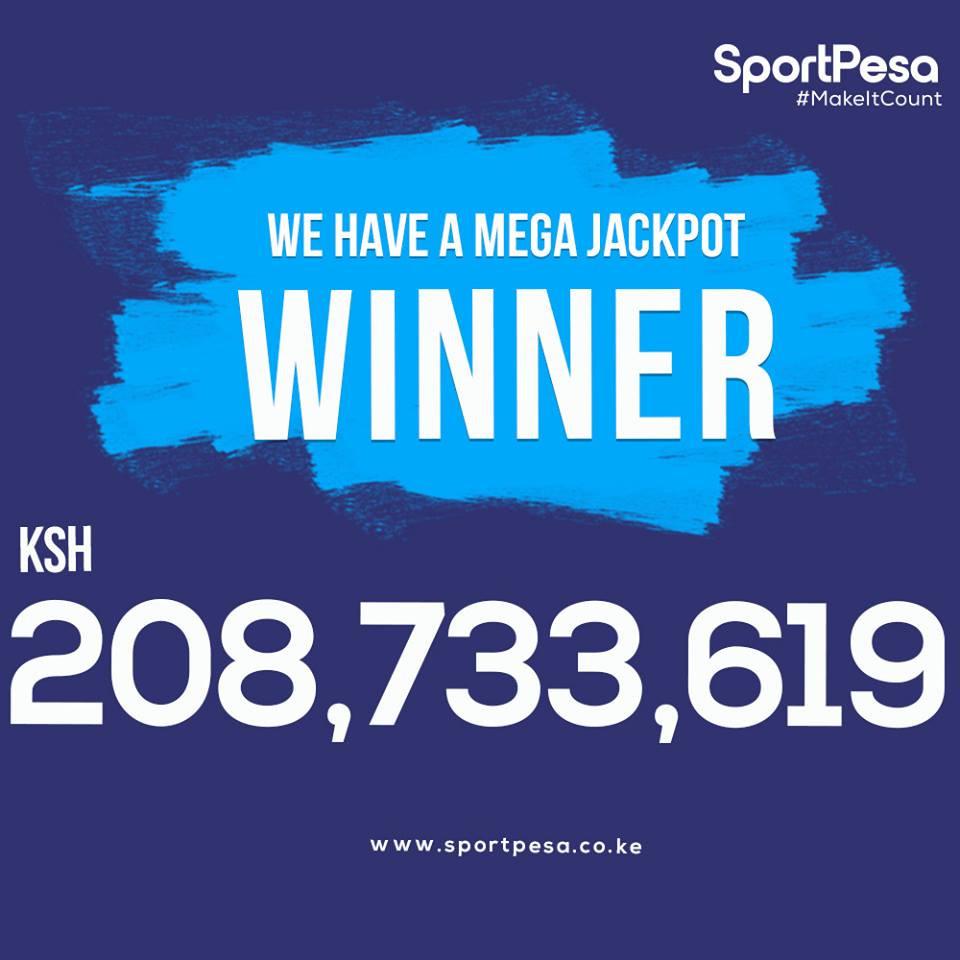 Sportpesa mega jackpot winner banner