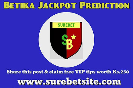 Betika jackpot prediction this weekend