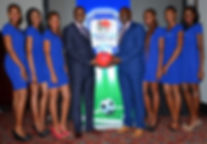 Sportpesa CEO and models during the laun
