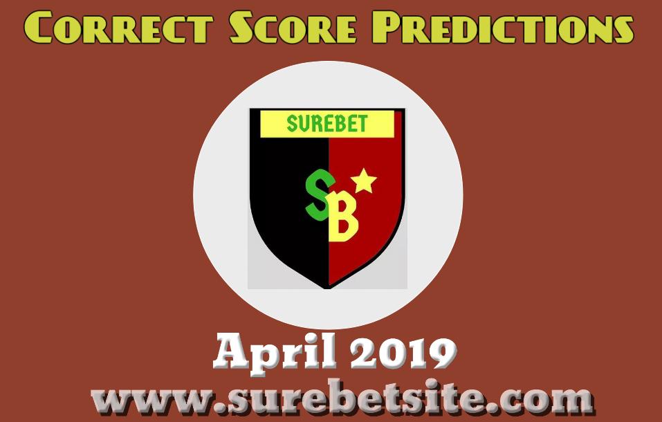 Correct Score Predictions April 2019