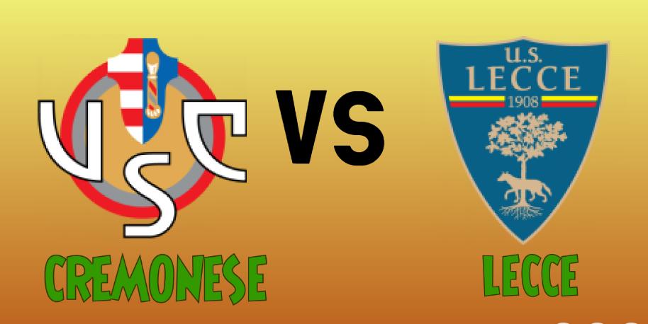 Cremonese  vs  Lecce match Prediction - logos