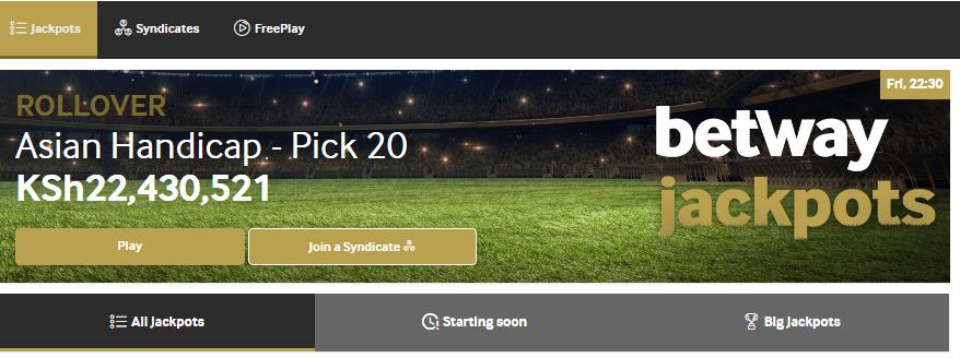 Betway jackpot prediction