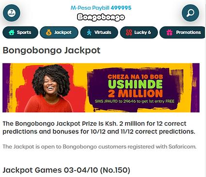 Bongobongo jackpot prediction