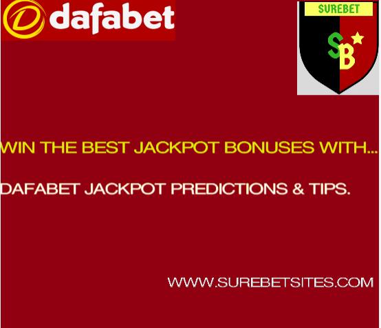 Dafabet Jackpot tips