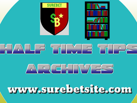 Half Time Predictions Archives April 2021