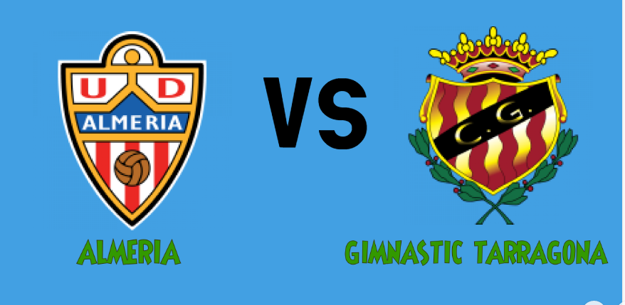 almeria VS gimnastic tarragona match Prediction - logos