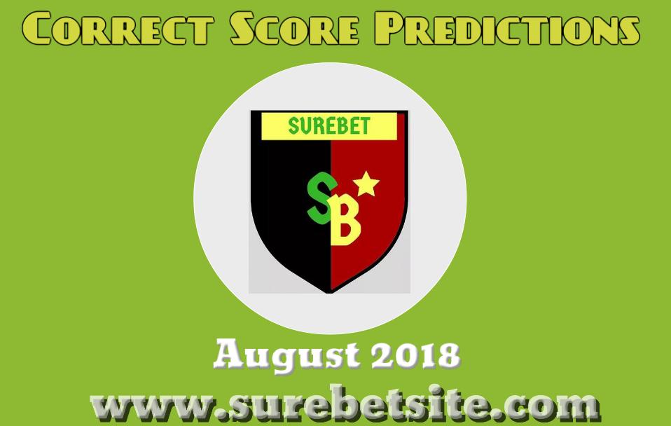 Correct Score Predictions August 2018