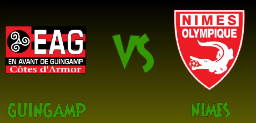 Guingamp and Nimes logos