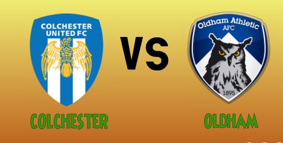 colchester vs Oldham match Prediction - logos