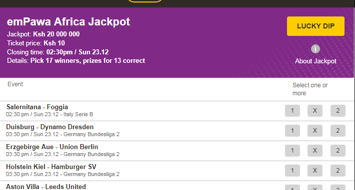 Betpawa jackpot prediction