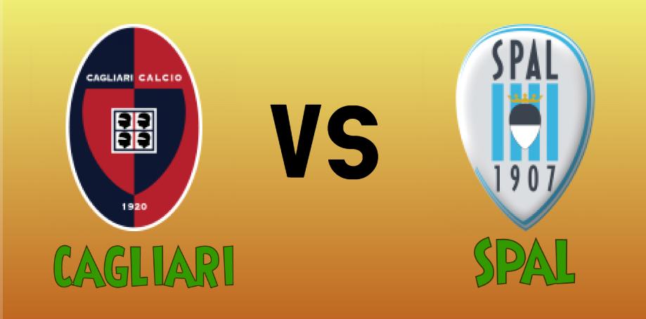 Cagliari vs Spal match Prediction - logos