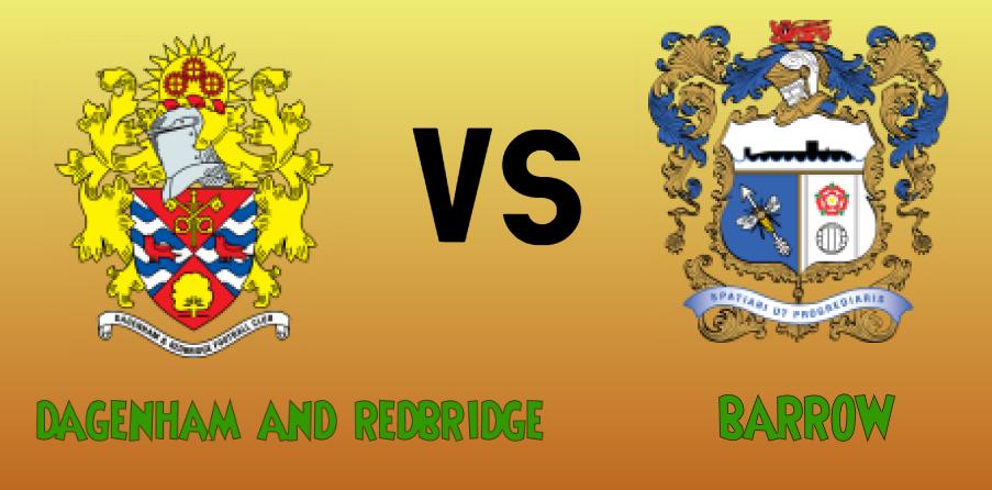 Dagenham and Redbridge vs Barrow match Prediction - logos