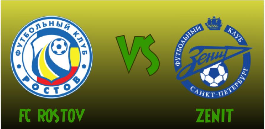 FC Rostov vs Zenit st Petersburg match banner with respective logos