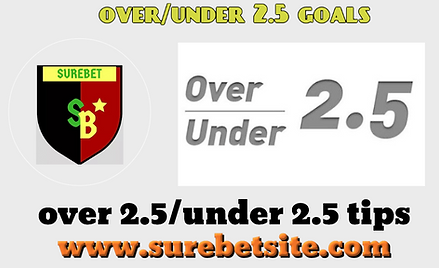 under-over 2.5 goals predictions