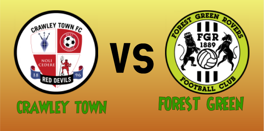 Crawley town vs Forest Green match Prediction - logos