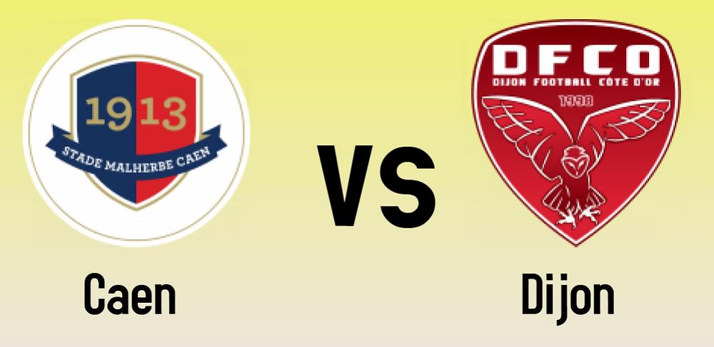Caen vs Dijon match logos