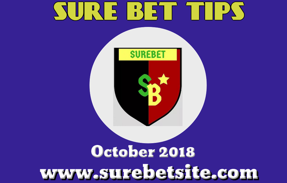 Sure Bet Prediction for October 2018
