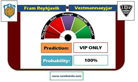 FRAM REYKJAVIK vs VESTMANNAEYJAR HOME SUREBET PREDICTION